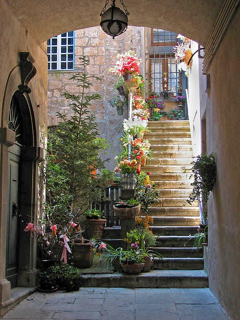 Stairs, St. Paul de Vence, France