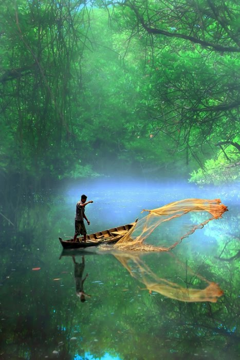 Misty River, Indonesia