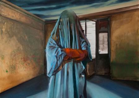 fantôme 1, Nicolas Marciano, huile sur toile, 162x114 cm