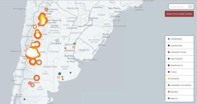 Mapa del vino argentino
