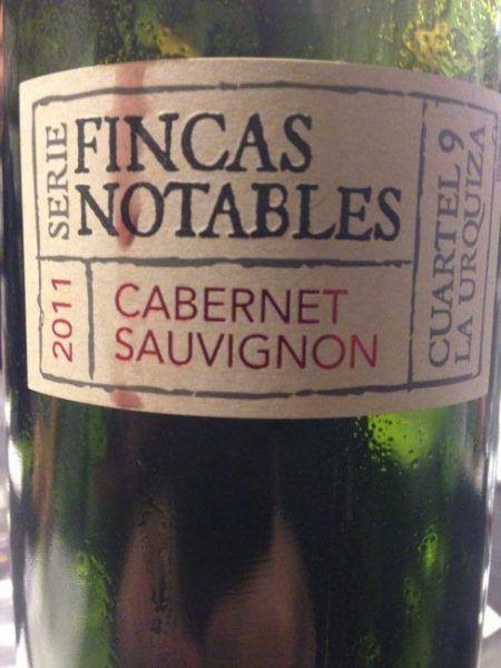 Serie Fincas Notables Cabernet Sauvignon 2011