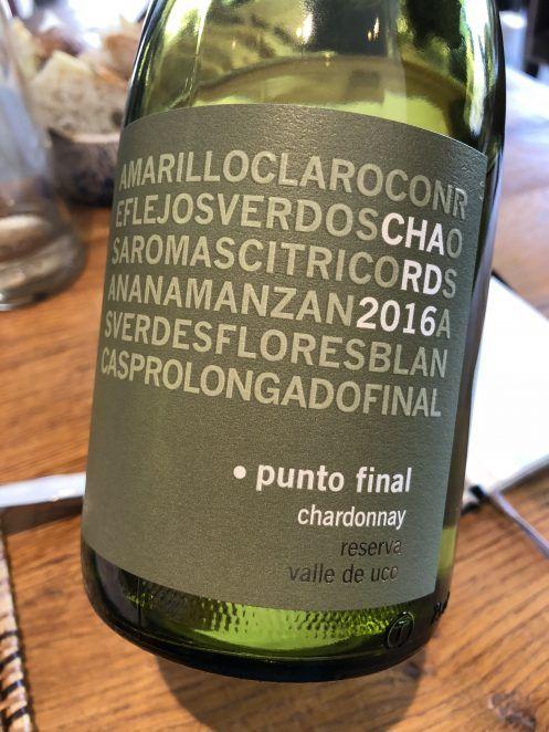 Punto Final Reserva Chardonnay 2016