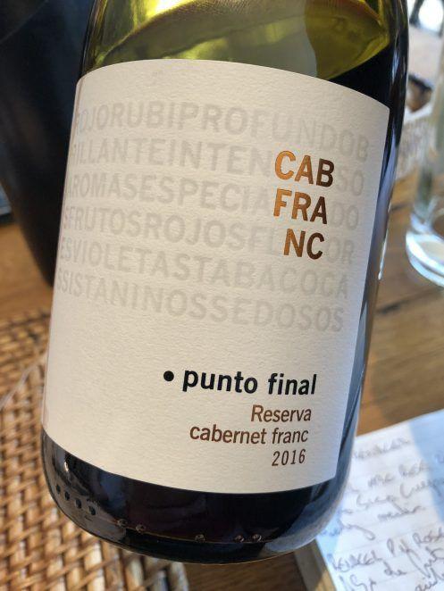 Punto Final Reserva Cabernet Franc 2016