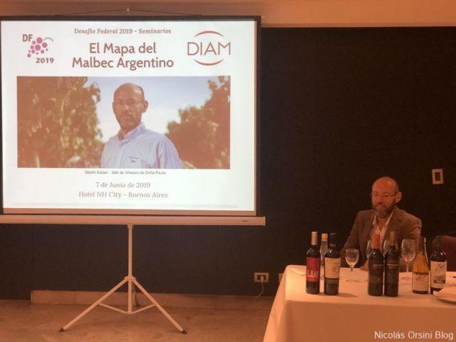 Martín Kaiser en los seminarios del Desafío Federal Malbec