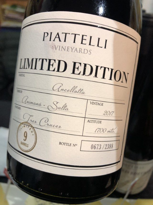 Piattelli Limited Edition Ancellotta
