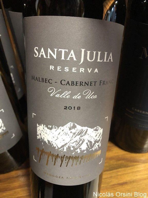 Santa Julia Reserva Malbec - Cabernet Franc 2018