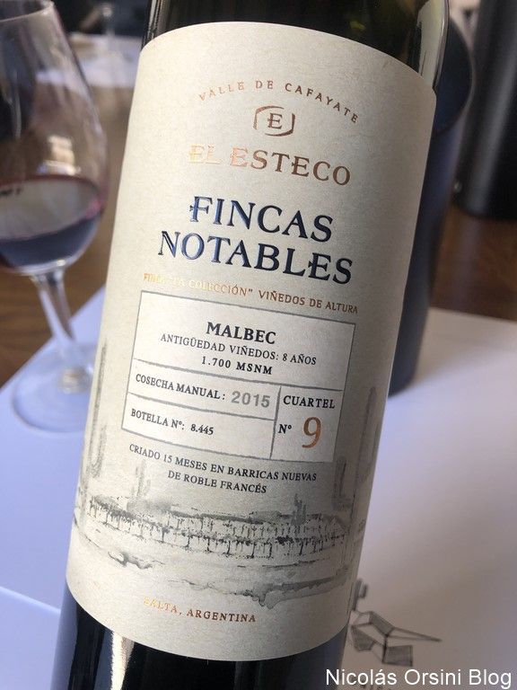 Fincas Notables Malbec 2015