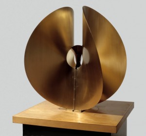 Bronze Spheric Theme circa 1960 by Naum Gabo 1890-1977