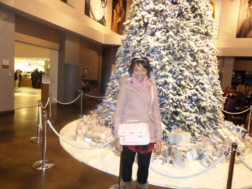 Harry Potter Studio Tour Christmas Tree (and me)