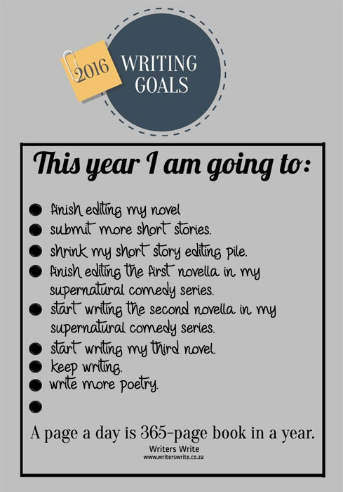 My 2016 Writing Goals