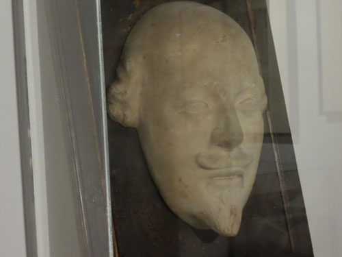 My Visit to the Our Shakespeare Exhibition - Shakespeare's death mask