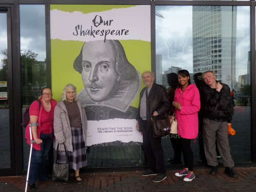 My Visit to the Our Shakespeare Exhibition - Library entrance