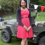 From Sunrise to Sunset Book Tour – Museum of Cannock Chase's VE Day Celebration - My 1940s dress