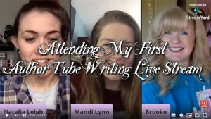 Attending My First AuthorTube Writing Live Stream