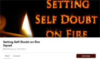 Setting Self-Doubt on Fire Squad - Join my writer support group