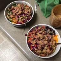 Steak Bowls with Thai Peanut Sauce