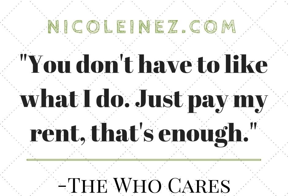 Zitat zum Thema who cares
