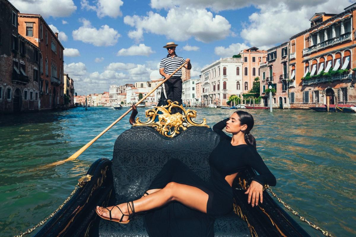 Nicole Isaacs in Venice, Italy