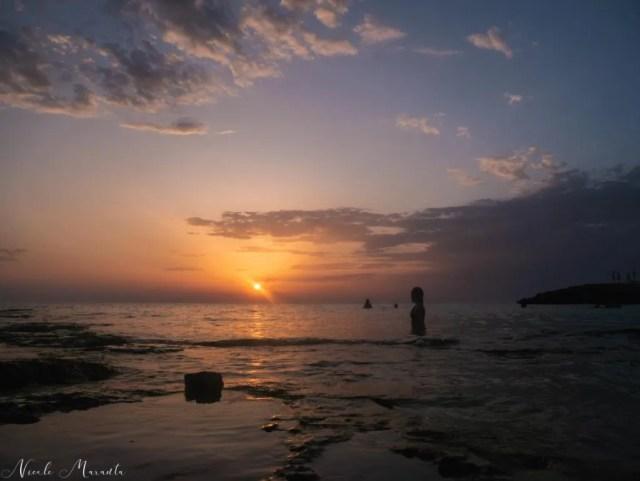 Tramonto sulla spiaggia della Suina - Nicole Maranta