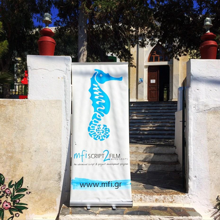 The headquarters of the Mediterranean Film Institute in Mandraki.