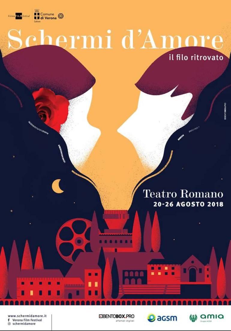 """Poster for """"Schermi d'Amore - Il filo ritrovato"""" Summer film festival."""