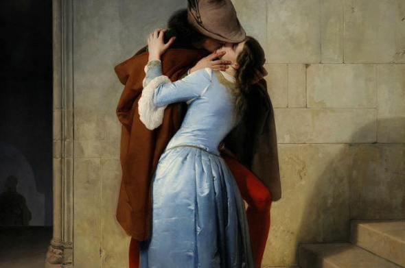 Il bacio. Episodio della giovinezza, di Francesco Hayez