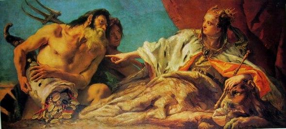 Nettuno offre doni a Venezia, Giambattista Tiepolo