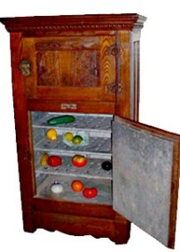 Victorian Oak Ice Box