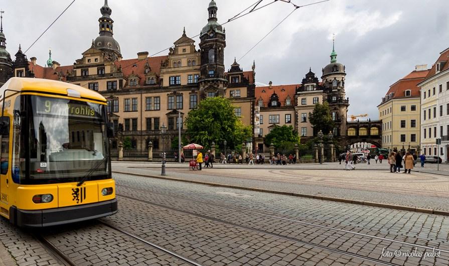 Dresden – Die dresdner Innenstadt samt Straßenbahn