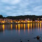 Wehlen, eine sehr kleine Stadt, direkt an der Elbe in der sächsischen Schweiz