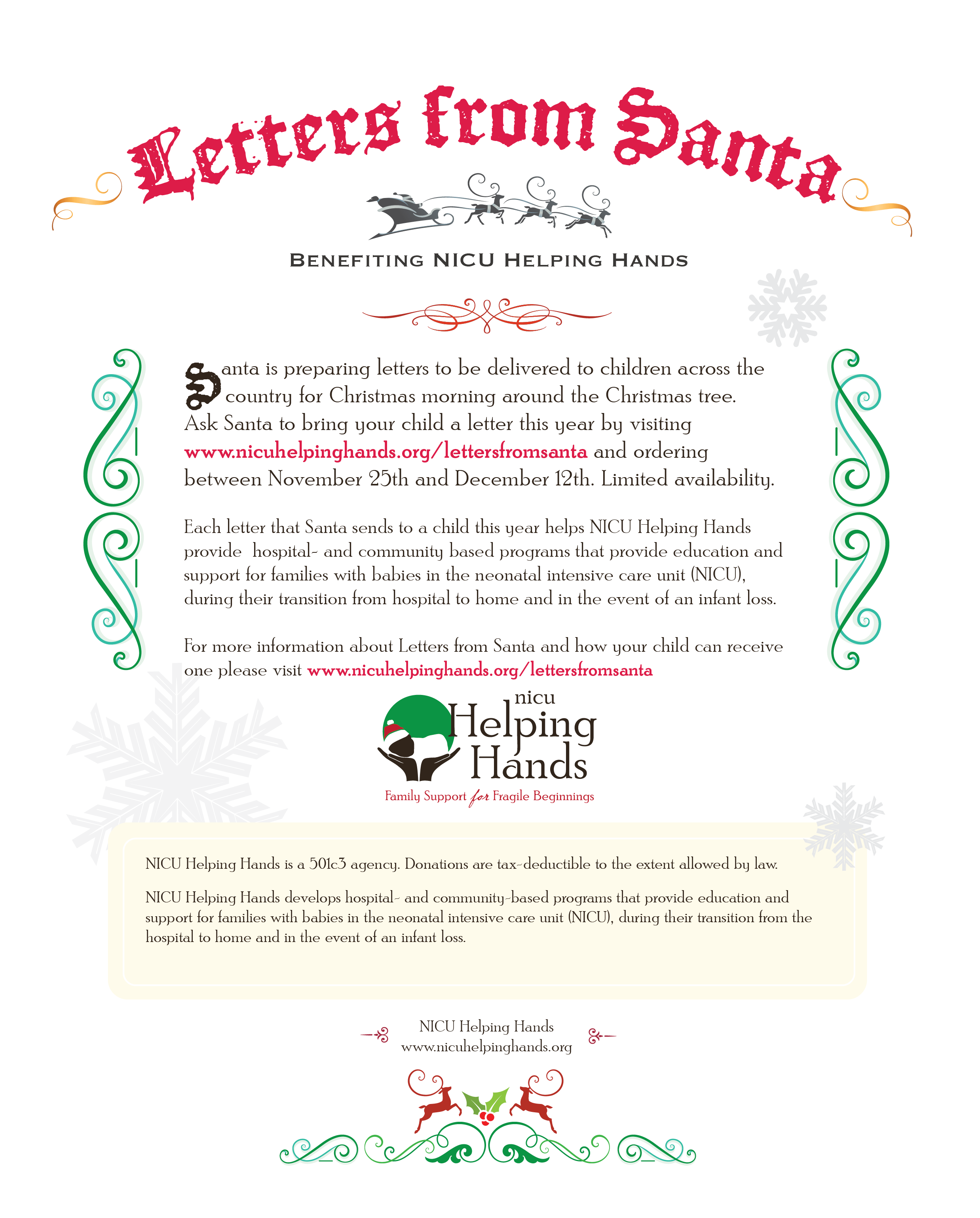 Letters From Santa  Nicu Helping Hands