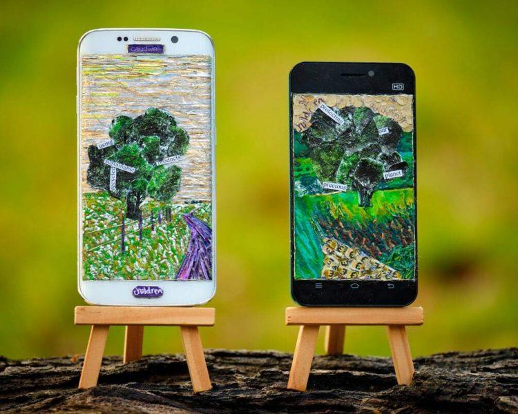 Mobiles in woodland - James Owen Thomas