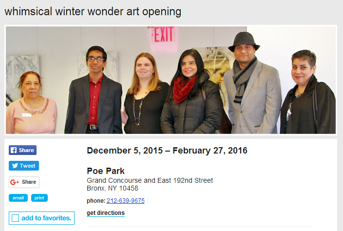 Whimsical Winter Wonder Exhibition Opening