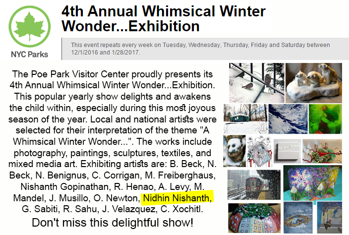 4th Annual Whimsical Winter Wonder...Exhibition