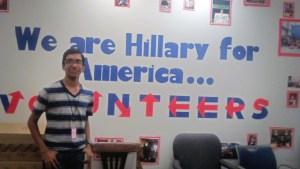 Nidhin Hillary for America Election HQ in Brooklyn