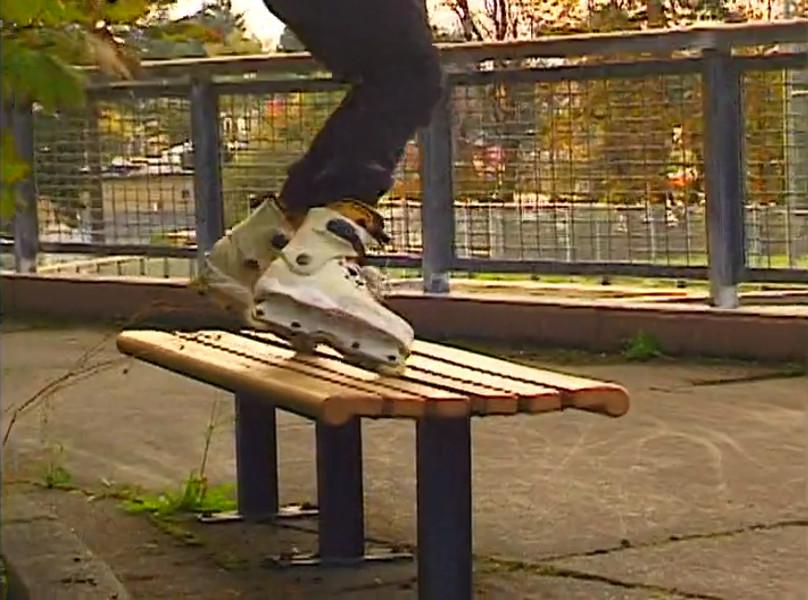 Josiah Blee Toe Slide across Bench