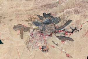 Na zdj. kopalnia metali ziem rzadkich - Bayan Obo w Chinach (fot. NASA)