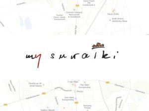 Autorem logotypu My Suwałki jest Wiesław Szumiński.