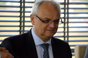 Na zdj. Ambasador RP w Wilnie Jarosław Czubiński.