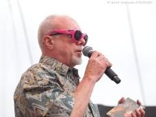 11.07.2014, Suwa³ki, Suwa³ki Blues Festival 2014, Kosciuszki, Jan Chojnacki zapowiada koncert Rob Tognoni Band fot. Wojciech OTLOWSKI