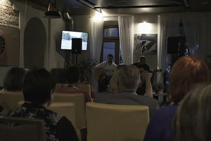 31 VIII 2018 Suwalki; Hotel Loft; Finisaz wystawy prac Joli Grabowskiej