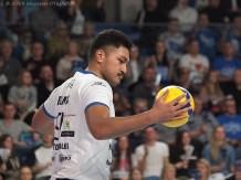 23 XI 2019; Suwałki Arena; Plus Liga; Ślepsk - Olsztyn 3:1; Joshua Tuaniga © 2019 Wojciech Otłowski