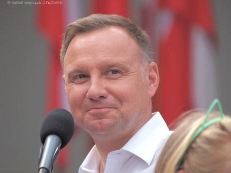 07 VII 2020;; Suwałki - Park im. Konstytucji 3 Maja; spotkanie z Andrzejem Dudą © 2020 Wojciech Otłowski