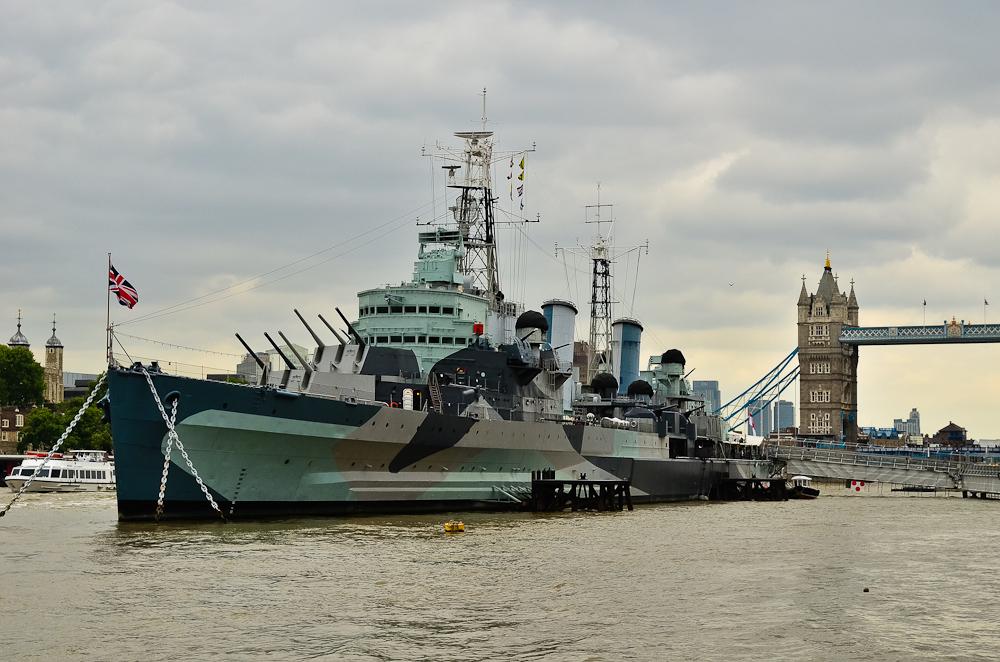Kreiseris – muziejus HMS Belfast Londone