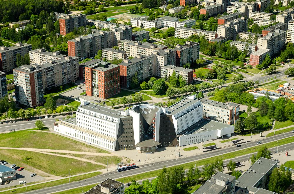 Vilniaus panoramos iš televizijos bokšto