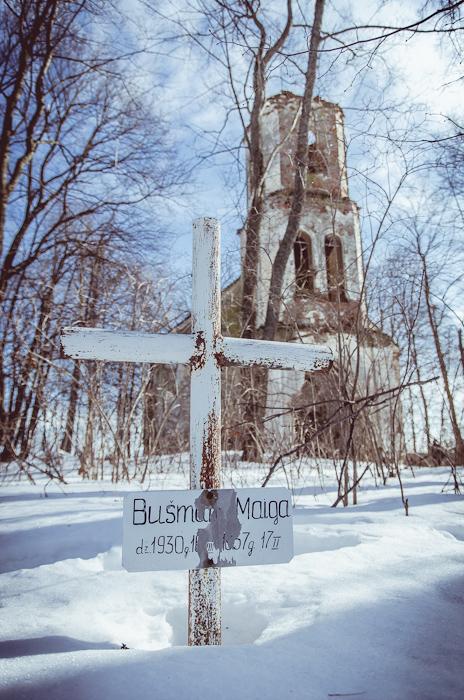 Apleista liuteronų bažnyčia pasienyje