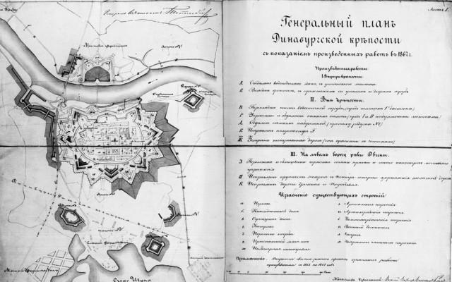 1867 m. tvirtovės planas