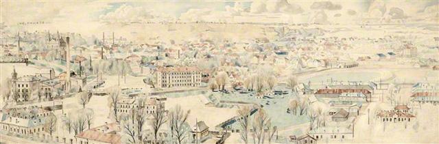 Vilniaus miesto panorama. 1937 m.