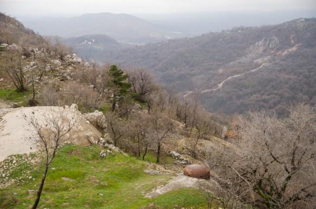 Įtvirtinimai kalno viršūnėje