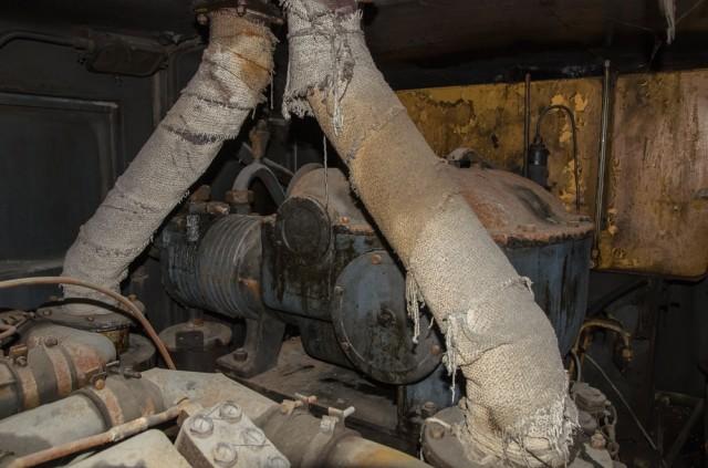 Išmetimo sistema ir oro kompresorius